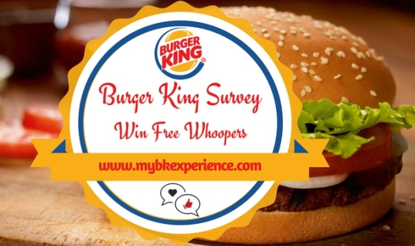 Burger King Feedback MyBKExperience Survey