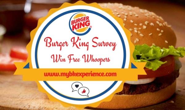 Burger King Feedback MyBKExperience Survey